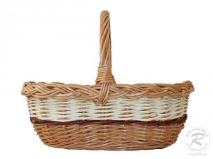 kleiner Einkaufskorb Handkorb Weide Korb ungefüttert (33x27x26)