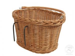 Fahrradkorb für den Lenker Einkaufskorb Handkorb Weide (38x29x22)