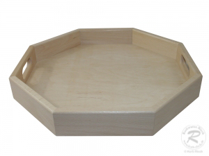 Tablett aus Holz, Trage Tablett (45x45x6)