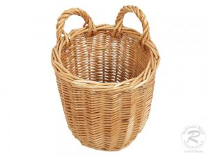 KLEINER Erntekorb, Pflückkorb, Gartenkorb, Gürtelkorb Korb aus Weide (D:16)