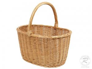 Einkaufskorb, Handkorb, klassischer Weide Korb ungefüttert (42x30x40)