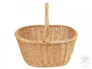 Einkaufskorb, Handkorb, klassischer Weide Korb ungefüttert (41x29x21/39)