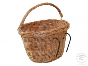 Fahrradkorb für den Lenker, Einkaufskorb, Handkorb Weide (35x29x23)