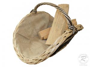 Holzkorb Korb Tragekorb aus gesottener Weide (68x42x40)
