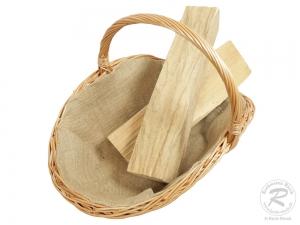 Holzkorb Korb Tragekorb aus gesottener Weide (58x42x42)