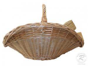 Holzkorb Korb Tragekorb aus gesottener Weide (72x53x48)