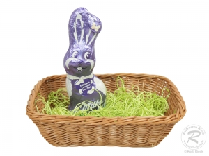 Osternest, Osterkorb aus Weide (L:23cm B:17cm H:7cm)