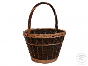 Gartenkorb, Einkaufskorb, Handkorb, Pflanzkorb Korb aus Weide (D:38)