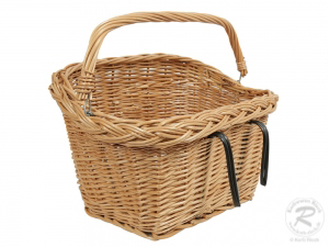 Fahrradkorb für den Lenker Einkaufskorb Handkorb Weide (42x28x33)