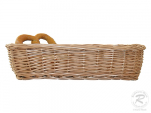 Brotkorb, Dekokorb aus Weide (L:32cm B:19cm H:7cm)