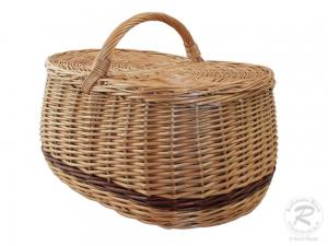 Einkaufskorb Handkorb Weide Korb mit Klappdeckel (48x29x35)
