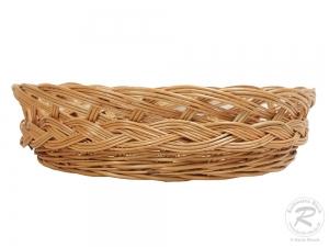 Brotkorb, Dekokorb aus Weide (D:38cm H:10cm)