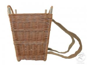 Tragekorb, Kiepe, Rucksackkorb aus gesottener Weide (40x35x48)