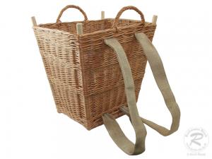 Tragekorb, Kiepe, Rucksackkorb aus gesottener Weide (46x42x53)