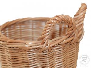 Erntekorb für den Gürtel, Pflückkorb, Gürtelkorb aus Weide (D:16 H:17) - klein