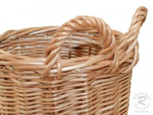 Erntekorb für den Gürtel, Pflückkorb, Gürtelkorb aus Weide (D:19)