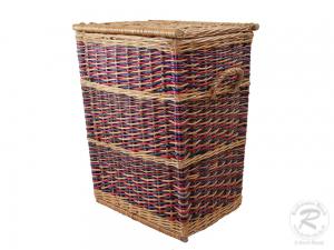 Wäschekorb - Korb für Wäsche aus gebeizter Weide (45x36x60)