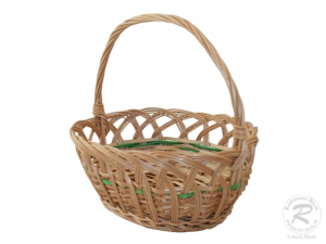 Kinderkorb Deko Korb aus Weide ungefüttert (27x19x23)