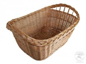 Wäschekorb aus Weide.
