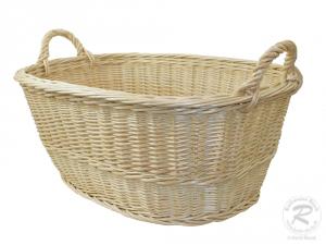Wäschekorb aus Weide Korb für Wäsche deutsche Fertigung Größe 2 (57x40x22/30cm)