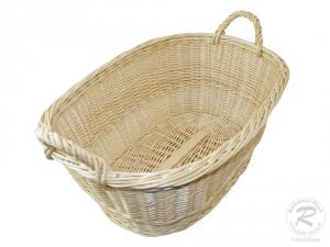 Wäschekorb aus Weide Korb für Wäsche deutsche Fertigung Größe 2 (54x37x21/28cm)