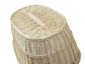 Wäschekorb aus Weide Korb für Wäsche deutsche Fertigung Größe 2 (52x35x23/30cm)