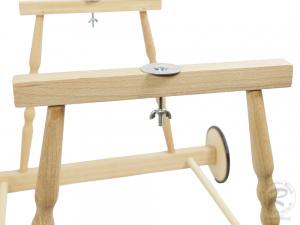 Untergestell für Babykorb, Stubenwagen Korb aus Holz (62x57x43)