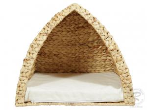 Tierhöhle, Tierkorb, Katzenhöhle, Korb für Tiere aus Wasserhyazinthe