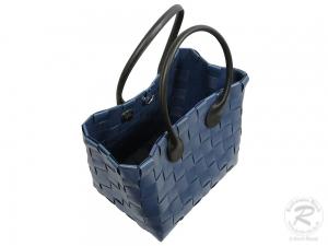 Kunststofftasche moderne Tasche aus Kunststoffbändern (40x25x50)