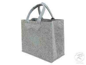 Filztasche, Schultertasche, Trachtentasche, Filz Tasche (37x18x30)