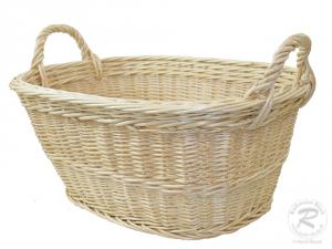 Wäschekorb, klein, aus Weide Korb für Wäsche deutsche Fertigung Größe 1  50x35x20/27cm