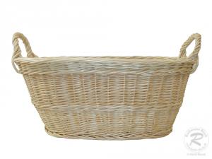 Wäschekorb aus Weide Korb für Wäsche deutsche Fertigung Größe 1  48x33x20/27cm
