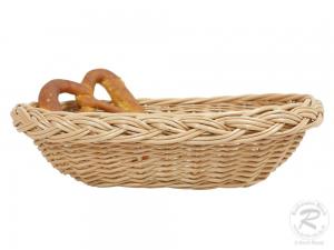 Brotkorb, Dekokorb aus Weide (L:30cm B:23cm H:8cm)