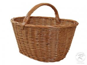 Einkaufskorb, Handkorb, klassischer Weide Korb ungefüttert (48x33x35)