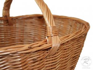 Einkaufskorb, Handkorb, klassischer Weide Korb ungefüttert (50x36x24/40)   II. Wahl