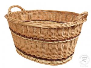 Wäschekorb, Korb für Wäsche aus gesottener Weide (60x46x33)