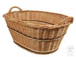Wäschekorb, Korb für Wäsche aus gesottener Weide (80x59x37)
