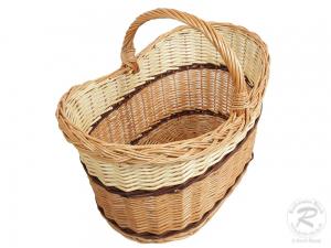Einkaufskorb Handkorb Weide Korb ungefüttert (47x33x39)