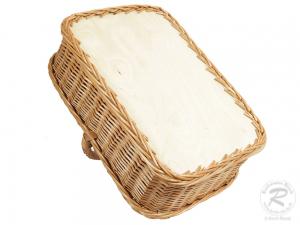 Tablett aus Weide, Trage - Korb - Tablett (47x38x33)