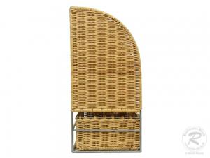 Korbregal, Telefonregal, Schlüsselregal mit Schublade (46x22x45)
