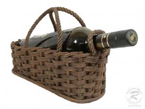 Flaschenkorb, Geschenkkorb, Korb für 1 Flasche (25x12x15)