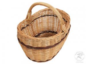 Kleiner Einkaufskorb Handkorb Weide Korb ungefüttert (30x23x29)