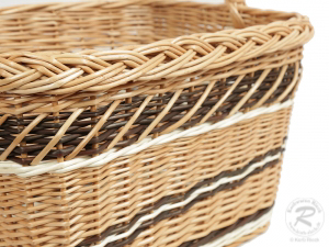 Einkaufskorb Handkorb Weide Korb ungefüttert (41x27x43)