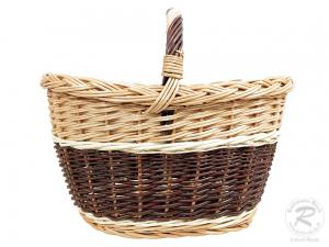 Einkaufskorb Handkorb Weide Korb ungefüttert (44x35x37)