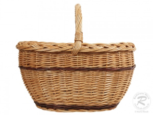 Einkaufskorb Handkorb Weide Korb ungefüttert (46x33x38)