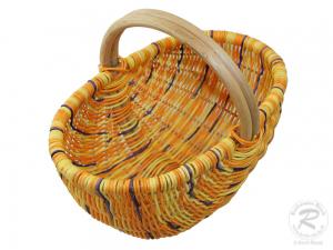 Einkaufskorb, klein,  Handkorb ungefüttert Korb aus Rohr (37x26x30)