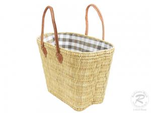 Handtasche Korbtasche robuste Tasche mit Stoffzug (40x25x42)