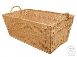 Wäschekorb aus Weide, Korb für Wäsche aus gesottener Weide (80x48x40)