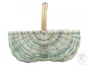 Einkaufskorb, klein,  Handkorb ungefüttert Korb aus Rohr (38x24x30)