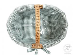 Einkaufskorb Handkorb Weide Korb gefüttert (43x33x22/32)